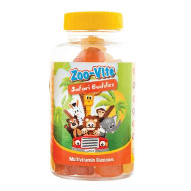 Zoo-Vite Safari Buddies (60 Gummies)