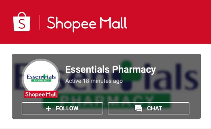 Essentials Pharmacy on Shopee