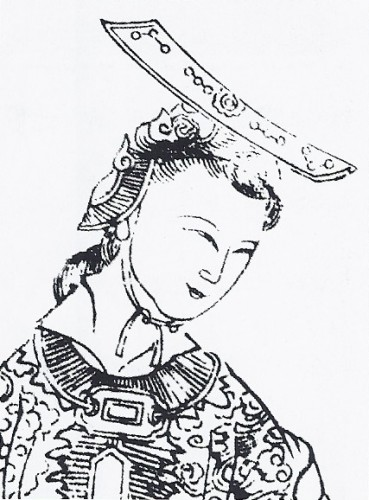 Empress Wu Ze Tian - 17th-century depiction from Empress Wu of the Zhou, published 1690.